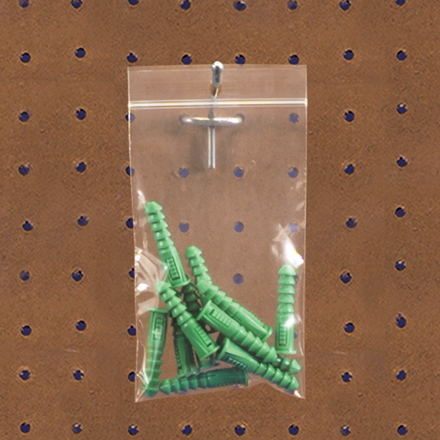 Reclosable Poly Bags - w/Hang Hole - 2 Mil